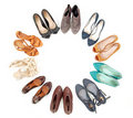 Many pairs of shoes Stock Photography