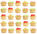 Many pastries Royalty Free Stock Photography