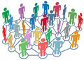 Many People Group Talk Network...