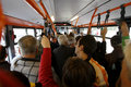 Many people in overcrowded bus Royalty Free Stock Photo