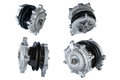 Many pictures of engine cooling fan clutch and water pump Royalty Free Stock Image