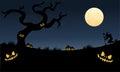 Many pumpkins halloween very scary at the night Stock Photos