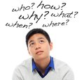 So many questions a curious teenager with Royalty Free Stock Photography