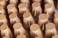 Many raw earthen pots Royalty Free Stock Photo