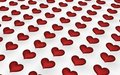 Many red hearts Royalty Free Stock Image