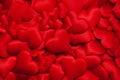 Many red hearts Royalty Free Stock Photo