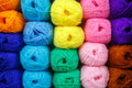 Many roll of colorful yarn for handmade work Royalty Free Stock Photography