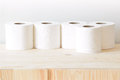 Many rolls of paper towel Royalty Free Stock Photo