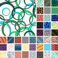 Many seamless patterns Royalty Free Stock Photos