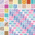 Many seamless patterns Stock Photos