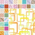 Many seamless patterns Royalty Free Stock Photo