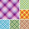 Many seamless plaid patterns