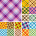 Many seamless plaid patterns Stock Images