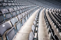 Many seats rows of in a big stadium Stock Photos