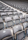 Many seats rows of in a big stadium Stock Photography