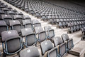 Many seats rows of in a big stadium Royalty Free Stock Image