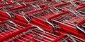 Many shopping carts Royalty Free Stock Photo