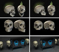 Many skulls Royalty Free Stock Photo