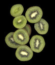 Many Slices of Kiwi Royalty Free Stock Photo