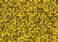 Many small gold square tile mosaic. pattern texture Royalty Free Stock Photo