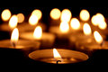 Many Tea Light Candles Royalty Free Stock Photo