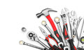 Many tools on white background Royalty Free Stock Image