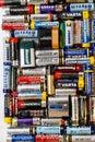 Many various batteries and accumulators, Hemer, Germany - 20 May 2017 Royalty Free Stock Photo