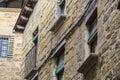 Many windows on a rock wall Royalty Free Stock Photo