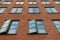 Many windows on the wall Royalty Free Stock Photo