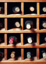 Many wine bottles Stock Photos
