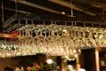 Many wine glasses Royalty Free Stock Photo