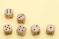 Many wooden dice Royalty Free Stock Photo