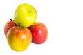 Manzanas frescas rojas en el fondo blanco Foto de archivo libre de regalías