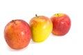 Manzanas frescas rojas en el fondo blanco Imagen de archivo libre de regalías