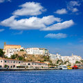 Mao port of mahon in menorca at balearic islands spain Royalty Free Stock Images