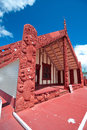 Maori marae (meeting house and meeting ground) Royalty Free Stock Image
