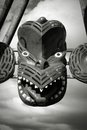 Maori style mask Royalty Free Stock Photo