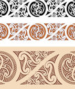 Maori styled seamless pattern Stock Photo