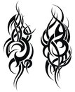 Maori styled tattoo pattern for a shoulder Royalty Free Stock Photo