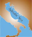 Map of adriatic sea Royalty Free Stock Photos