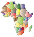 Map of Africa Stock Photos