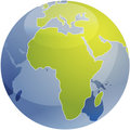Map of Africa on globe Royalty Free Stock Images