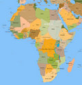 Map Africa - vector - detailed