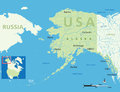 Map alaska usa small location map vector illustration Stock Images