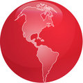 Map of Americas sphere Stock Photo