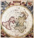 Map antique maps of the world double hemisphere moses pitt c Stock Photography