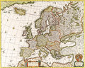 Map antique maps of the world of europe nicolas visscher c Stock Image