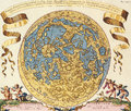 Map antique maps of the world of europe vincenzo coronelli c Stock Photos
