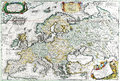 Map antique maps of the world of europe vincenzo coronelli c Royalty Free Stock Photography