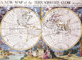Map antique maps of the world of the world edward wells c Royalty Free Stock Photos